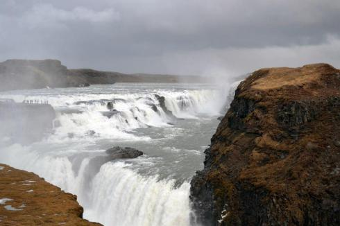 Gullfoss Golden Waterfall